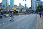 Photo of the final stage of the Tour of Britain, 2010, held in the Docklands of East London