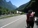 Riding through the valley towards Bourge d'Oisans and Alpe d'Huez