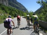 On the road towards the Col du Lauteret