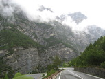 Photo of the road up to the Passo di Stelvio