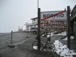 Photo from the summit of the Passo dello Stelvio