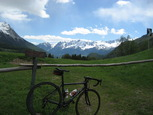 Photo from half way up the Passo Bernina