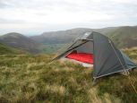 Tent pitched above Angle Tarn