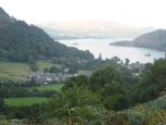View of Glenridding and Ullswater from Saturday's camp spot
