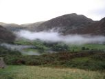Early morning mist in the valley above Glenridding