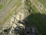 Looking down from Striding Edge