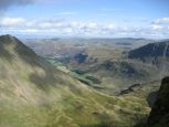 The view down Grisedale Beck from near Nethermost Pike