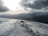 Looking back down the path up to Helvellyn