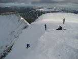 Climbers on the east face of Helvellyn
