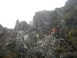One of the many small scrambles on the Aonach Eagach