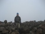 Standing at the summit of Sgorr nam Fiannaidh at the western end of the Aonach Eagach